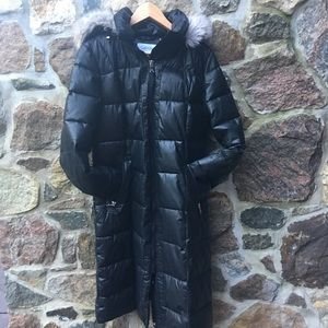 ♥️CALVIN KLEIN♥️Faux Fur hooded quilted coat